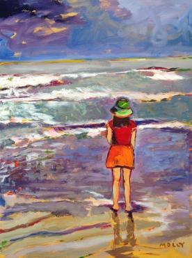 Girl with Ocean, 40x30