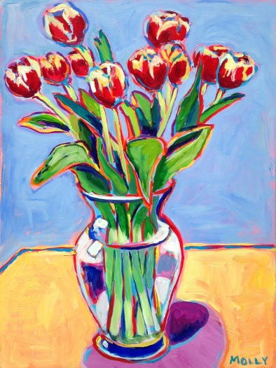 Tulips, 20×24 (sold)