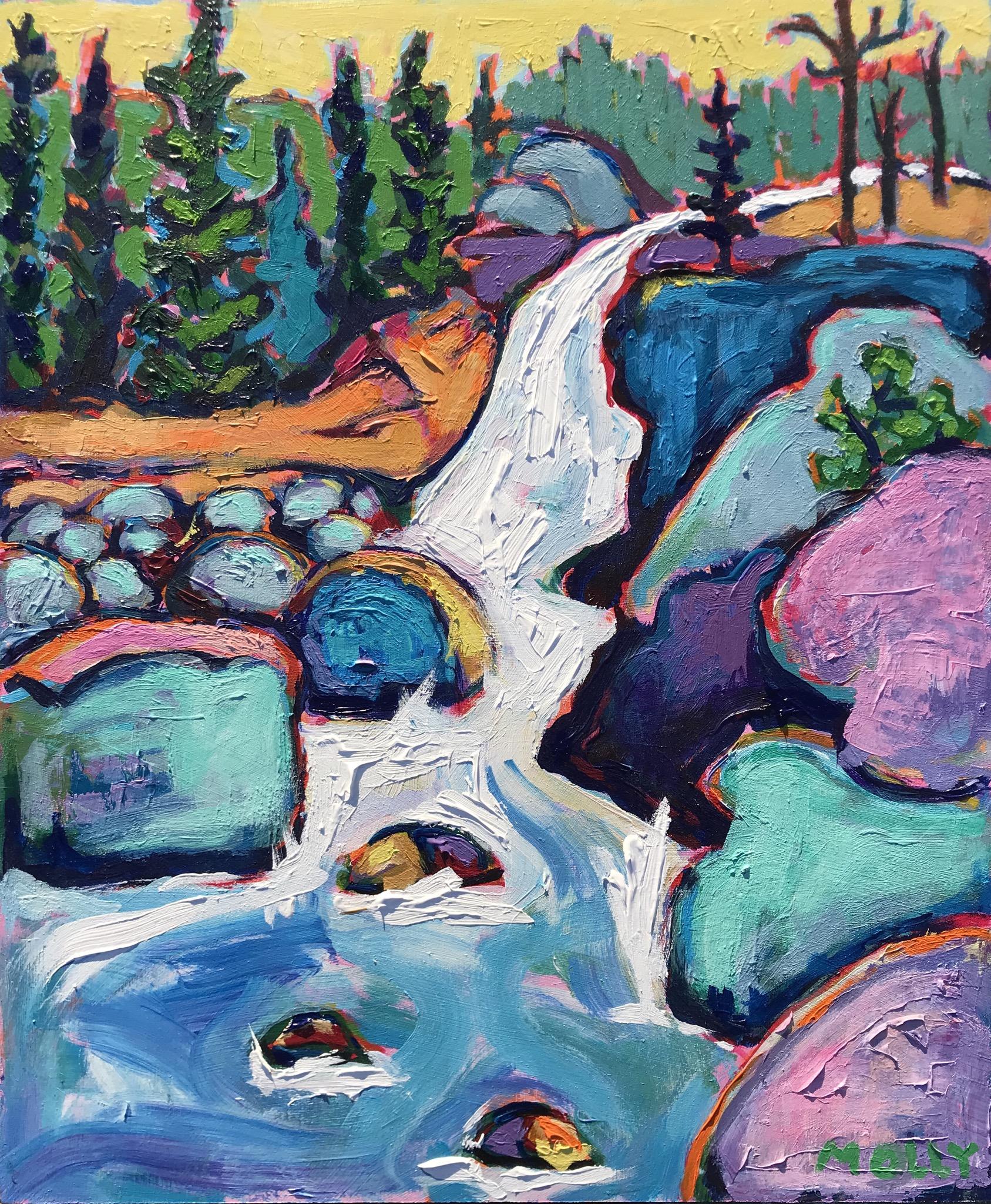 Alberta Falls, 24x20, Acrylic on Canvas