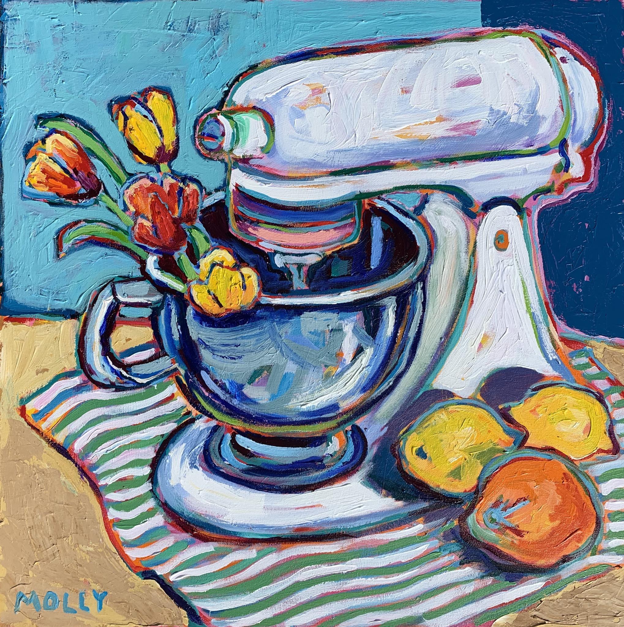 Bake with Me #2, 30x30, Acrylic on Canvas